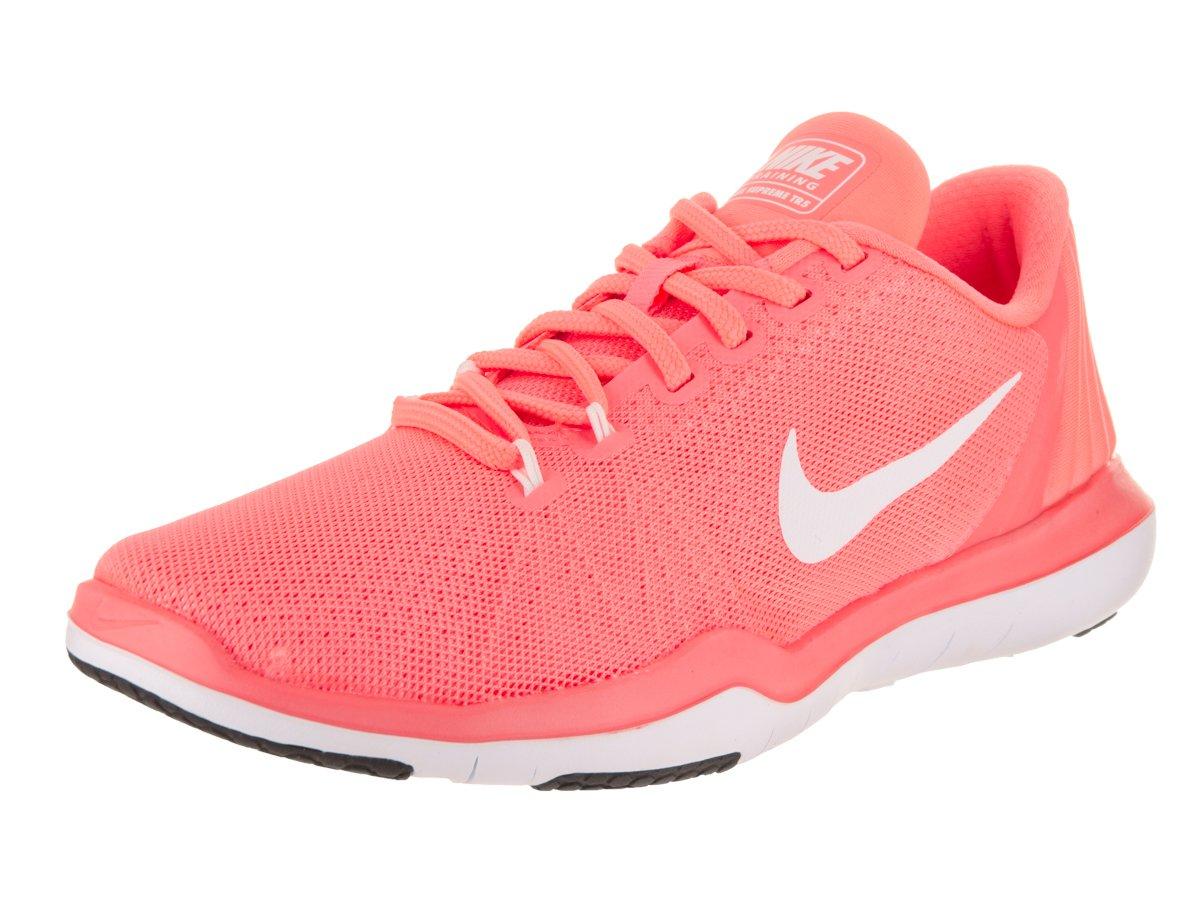 Nike Women's Flex Supreme TR 5 Cross Trainer, Lava Glow/White/University red/Black, 6 B US