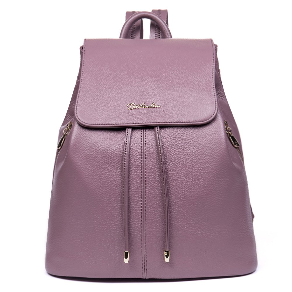 BOSTANTEN Women Leather Backpack Purses College Casual Daypack Handbags