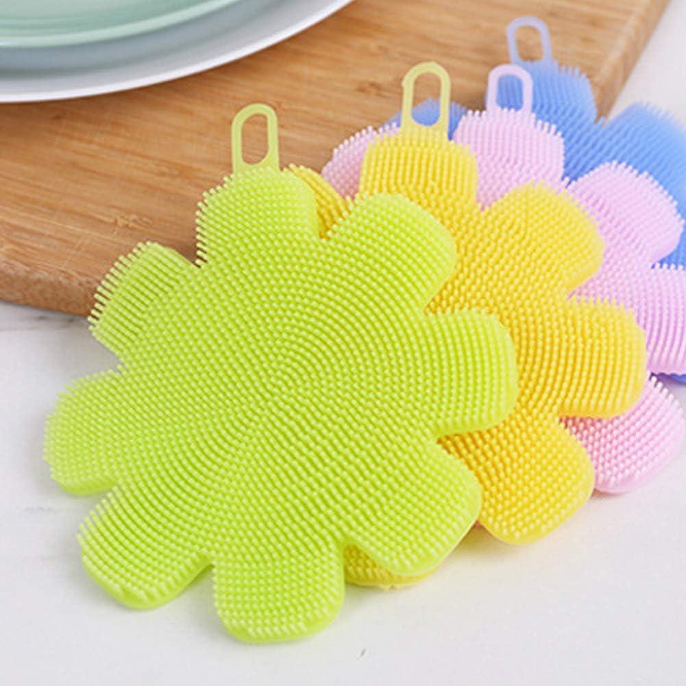 OPSLEA Silicone /éponge Lave-Vaisselle Brosse Multifonction Non b/âton Nettoyage antimicrobien Gadgets de Cuisine