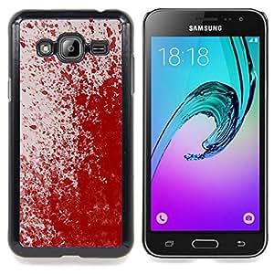 Queen Pattern - FOR Samsung Galaxy J3 - Paint Splash Art Modern Random Red Blood - Cubierta del caso de impacto con el patr???¡¯???€????€????&su