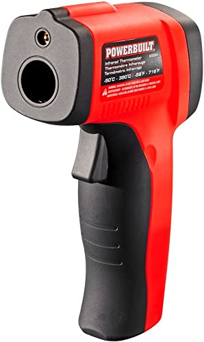 Powerbuilt 648564 Temperature Gun Infrared Noncontact Laser Thermometer