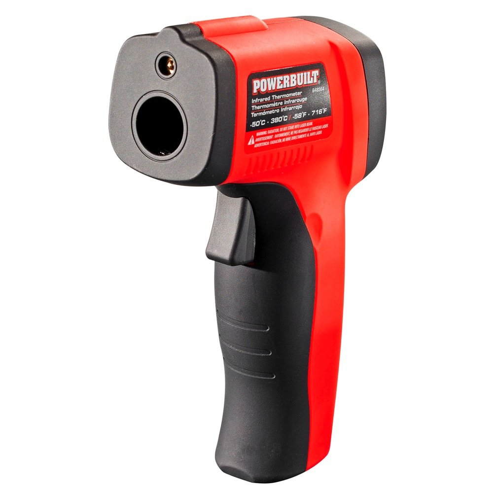 Amazon.com: Powerbuilt 648564 Temperature Gun Infrared Noncontact Laser Thermometer: Automotive