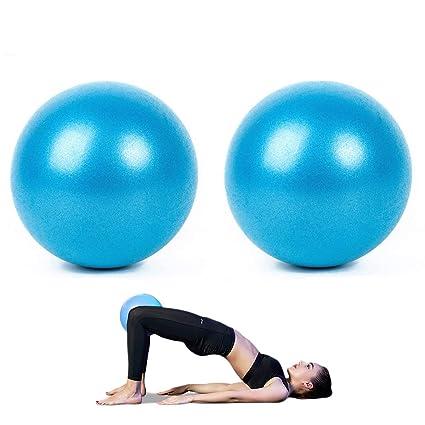 AOAVE 2 unidades de pelota de pilates, bola de yoga, bola de barrera, mini pelota de ejercicio, 9 pulgadas pequeña Bender Ball, Pilates, Yoga, Core ...