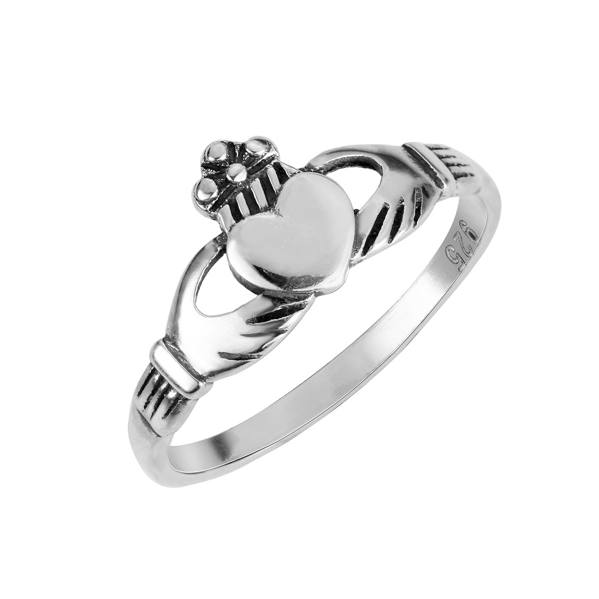 Sizes 2-14 CloseoutWarehouse Sterling Silver Benediction of The Claddagh Ring