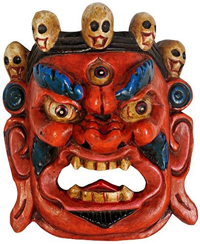 Mahakala Wall Hanging Mask (Tibetan Buddhist Deity) - Wood