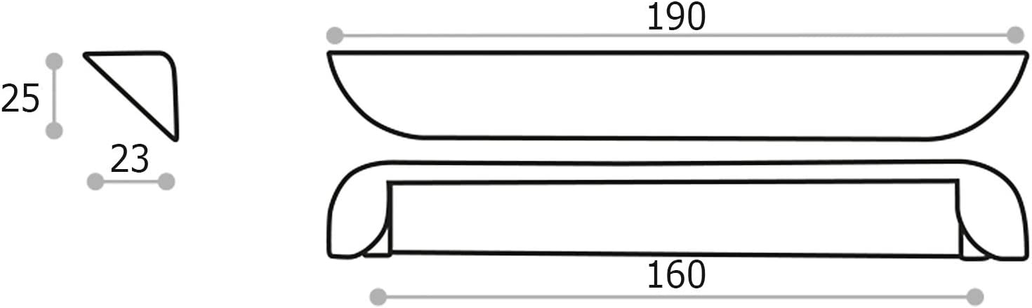 Tirador de Mueble PIYA Distancia Agujero 160 mm Acabado Cromo Pulido Tirador de Cocina de JUNKER Design