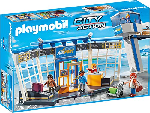 PLAYMOBIL® Airport with Control Tower Building Set