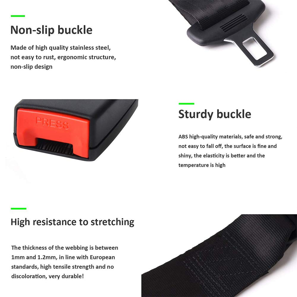 YOGANHJAT 2 Point Seat Safety Belt Universal Safety Adjustable Retractable Single Double Harness Kit Seat Lap Belt Suitable for Forklift car