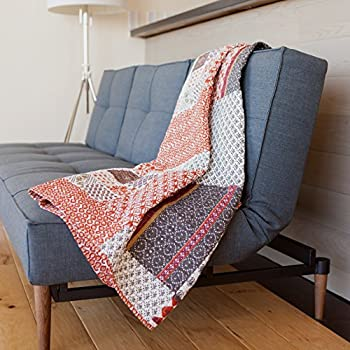 Amazon.com: Greenland Home Katy Quilted Throw: Home & Kitchen : quilted sofa throws - Adamdwight.com