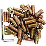 "40Pcs Anwenk 1/4""-20 x 25mm Furniture Screw in Nut"