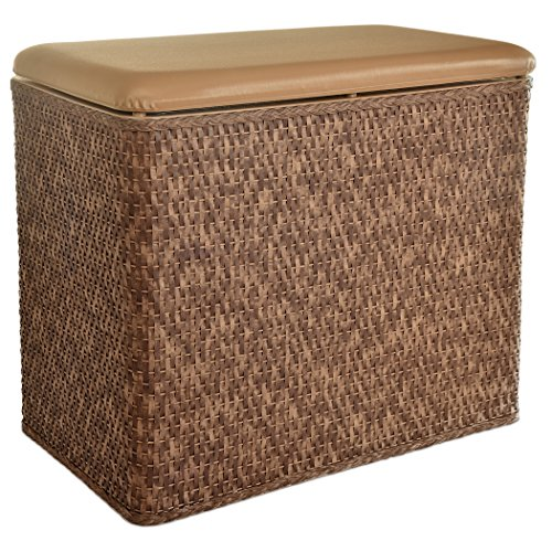 Lamont Home Carter Bench Hamper, Cappuccino Bench Hamper