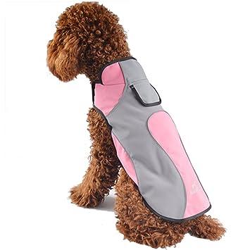 Treat Me Perro Ropa Para Mascotas Impermeable Y Cálido Fleece Perros Abrigo Chaqueta Al Aire Libre Impermeables Reflectantes De Seguridad: Amazon.es: ...
