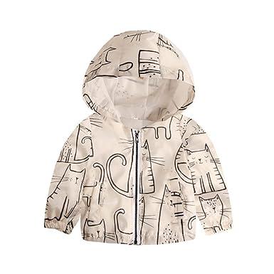 e7bdb7cef Amazon.com: Staron Kids Zipper Hoodie Coat Baby Boy Girls Long Sleeves Cute Hooded  Tops Outfits: Clothing