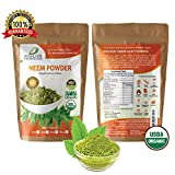 Neem Organic Leaf Powder 2oz Non GMO supplements for glowing skin, hair, nails, supports digestion, anti-oxidant, supports healthy blood sugar, cholesterol, more Review