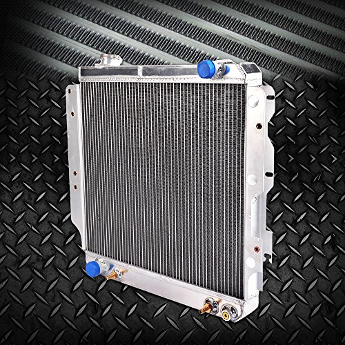 2 Row Core Full Aluminum Racing Performance Radiator Replacement For 1987-2006 Jeep Wrangler YJ TJ 2.4L-4.2L 2.5L 4.0L L4 L6 Silver 1988 1990 2004