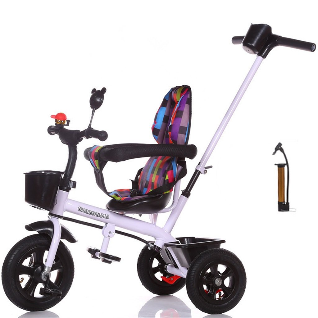 Multifuncional 2-en-1 Sports Edition Trike Triciclo infantil Kid Trolley con Parent Handle para niños de 1-3-6 años Boy and Girl Baby (Vigor White Bike) ( Color : B )