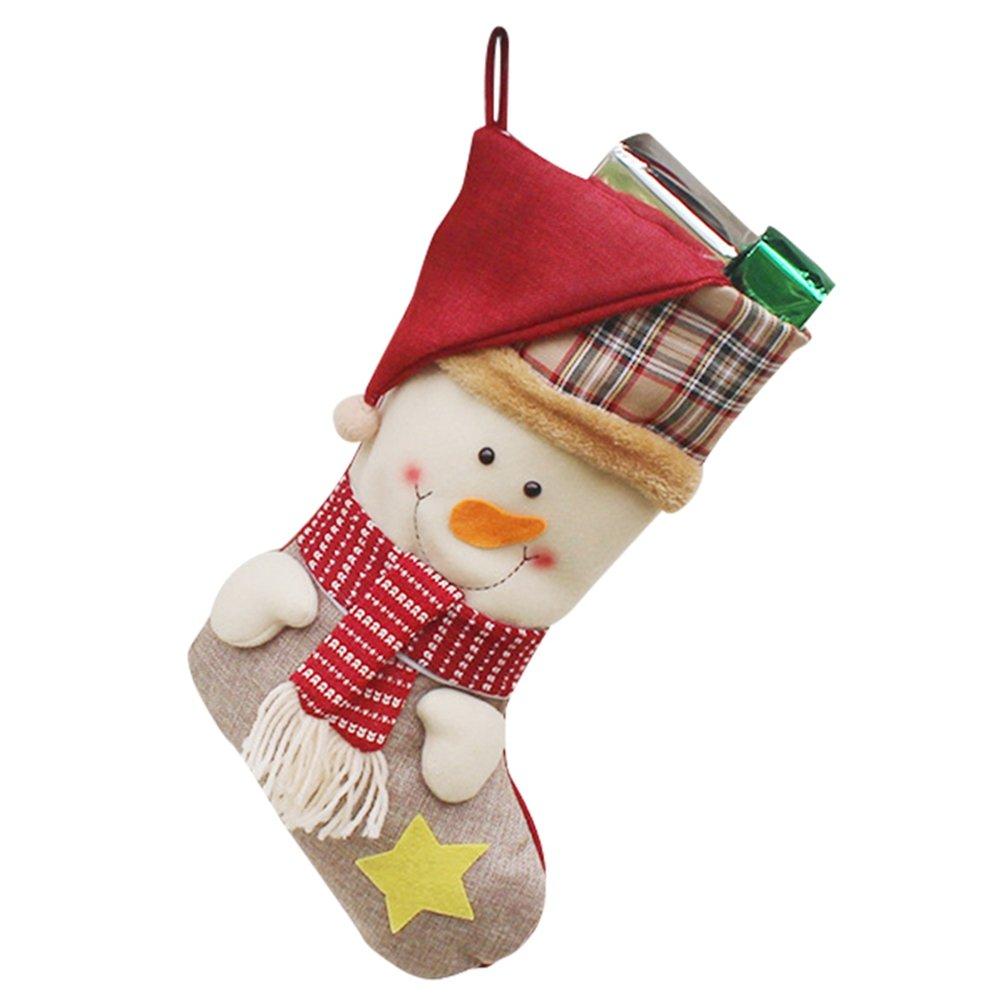 YiLianDa Añ o Nuevo Medias De Navidad Calcetines De Santa Claus Regalo Del Caramelo Decoració n Del Bolso