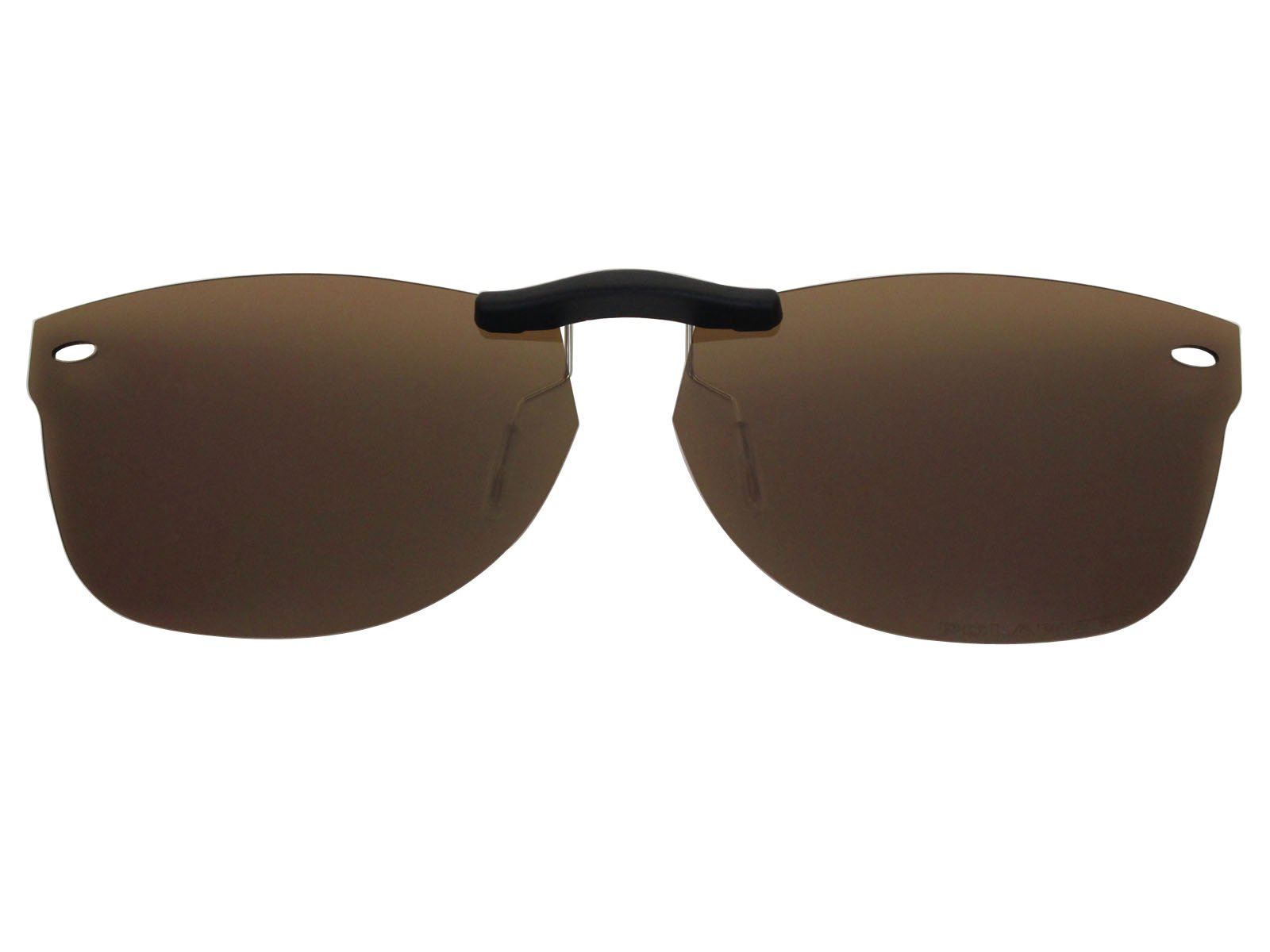 Custom Fit Polarized CLIP-ON Sunglasses For Ray-Ban RB5184 50X18 Brown