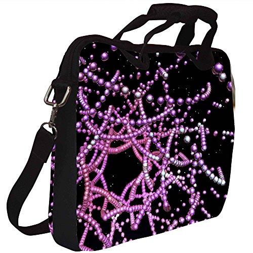 Snoogg digitalen fraktale Struktur Gedruckt Notebook-Tasche mit Schultergurt 15 bis 15,6 Zoll