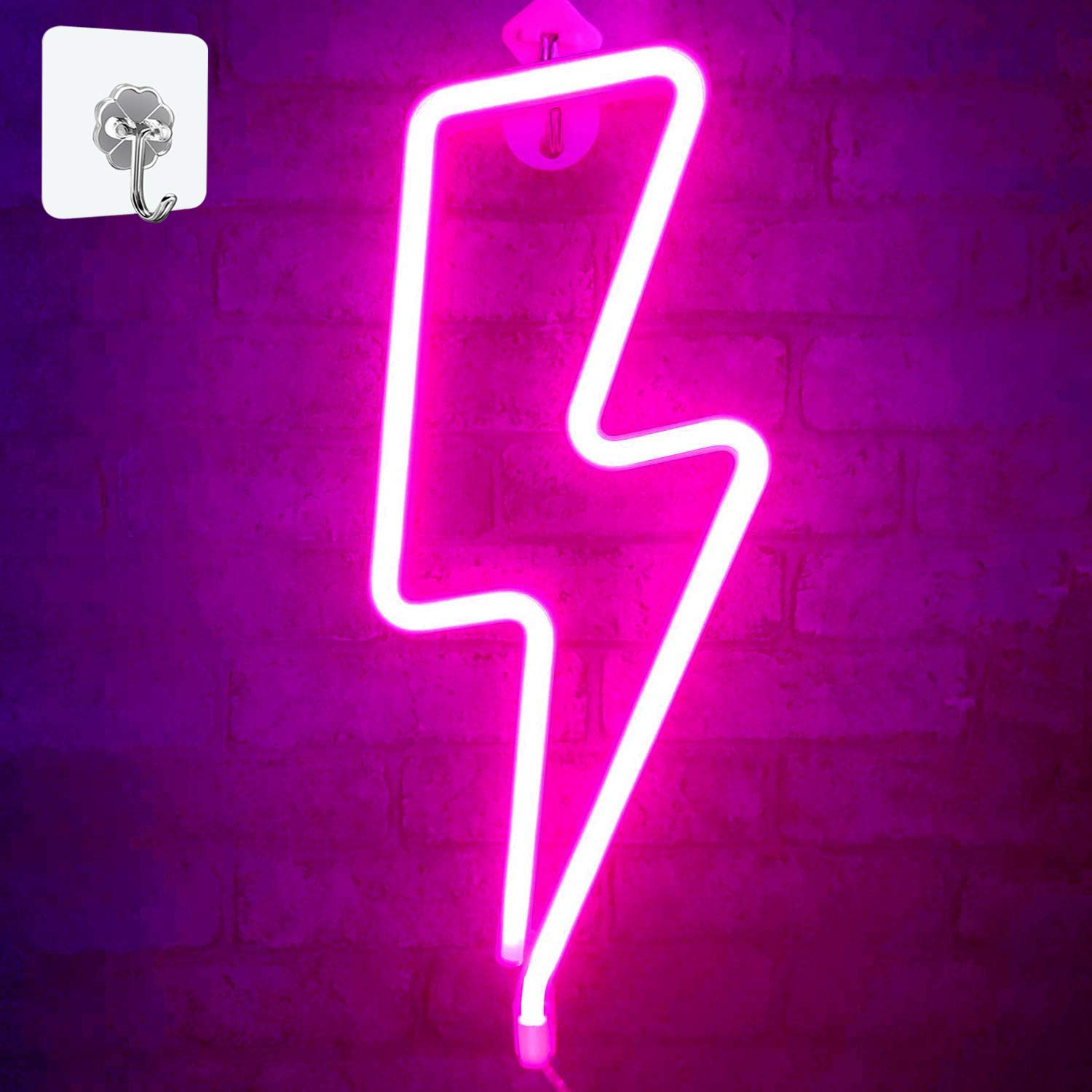 Battery and USB Operated Neon Decorative Lights for The Home OHLGT LED Neon Light Wedding Bar Halloween Neon Sign Pink Cloud for Wall Decor Kids Bedroom Party Christmas Valentines Day