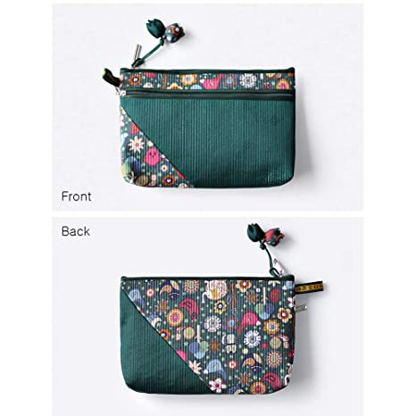 648388216f04 Amazon.com: PALBOCK Oriental Quilted Satin Zipper Cosmetic Pouch Bag ...
