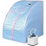 Tri-polar portatile di casa vapore Sauna SPA personale dimagrimento con sedia, blu