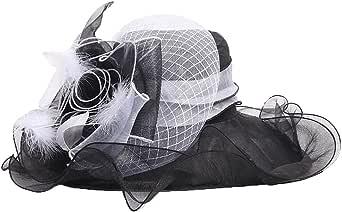 KN Accessories Women Kentucky Derby Hat Tea Party Wedding Hat,Two Wear Ways,Hat Flower Can Be Used As a Headwear
