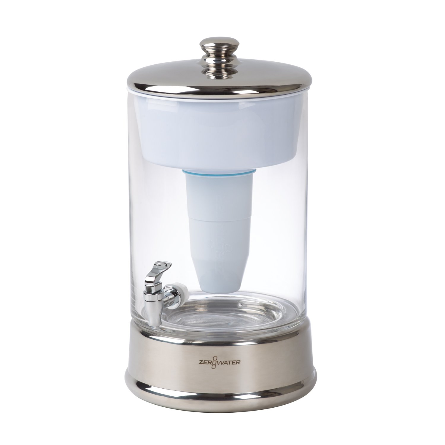 ZeroWater 40 Cup Ready-Pour Glass Dispenser BPA-Free with Free Water Quality Meter NSF Certified to Reduce Lead and Other Heavy Metals