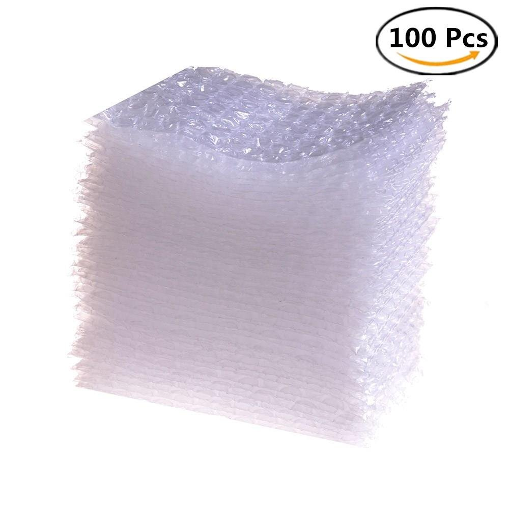 100 Pieces Bubble Pouches Bags Protective Double Walled Clear Cushioning Bags for Shipping Storage and Moving 4 x 6 Inches