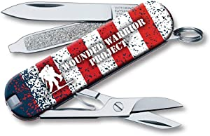 Victorinox Swiss Army Classic SD Pocket Knife, WWP American Flag, 58mm