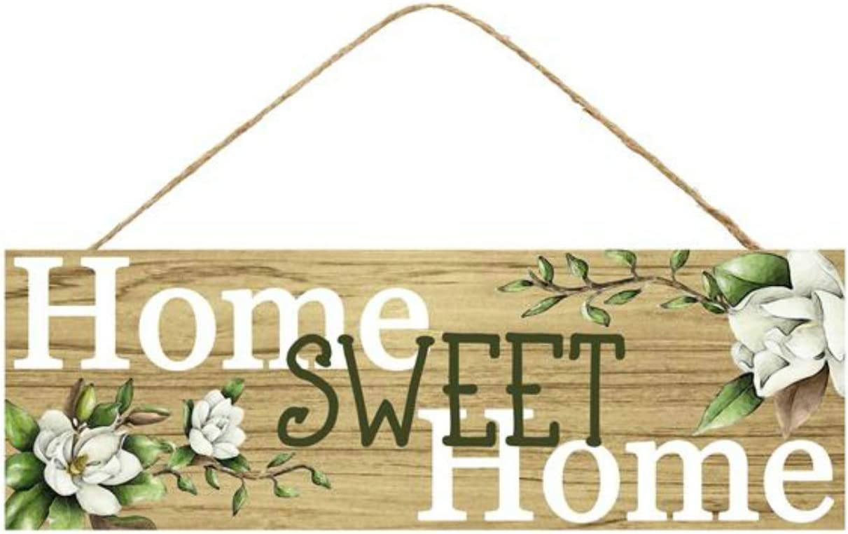 Craig Bachman Home Sweet Home Wooden Sign (12.5 Inches x 6 Inches)