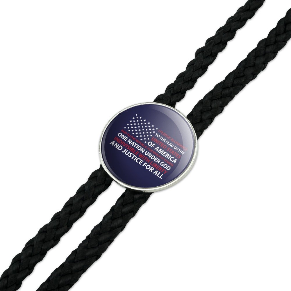 USA Flag Pledge of Allegiance America Western Southwest Cowboy Necktie Bow Bolo Tie