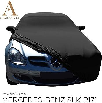 Autoabdeckung Schwarz Passend FÜr Mercedes Benz Slk Class R171 Mit Spiegeltaschen Ganzgarage Innen SchutzhÜlle Abdeckplane Schutzdecke Cover Auto