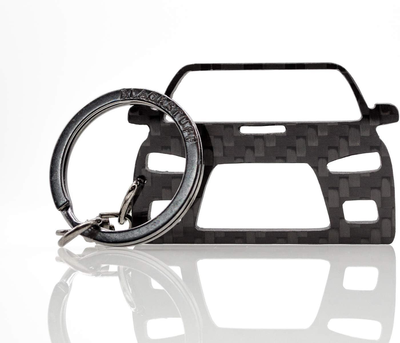 Blackstuff Carbon Karbonfaser Schlüsselanhänger Kompatibel Mit Lancer Evo 10 Bs 103 Auto