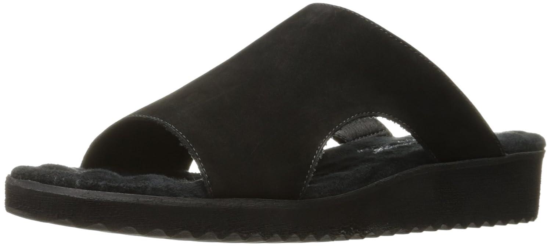 Black Black1 Walking Cradles Womens Hartford Flat Sandal