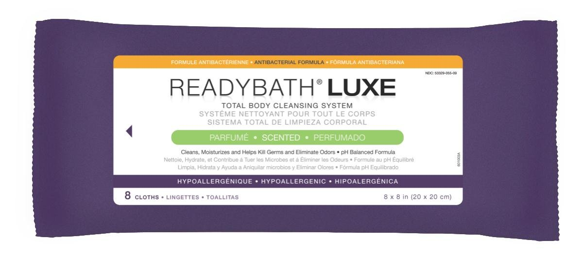 Amazon.com: MEDLINE MSC095100H ReadyBath LUXE Total Body Cleansing Heavyweight Washcloths: Industrial & Scientific