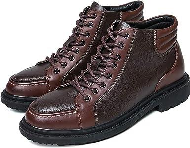 Zapatos Botines de Moda para Hombre Botines de tacón Alto Ocultos ...