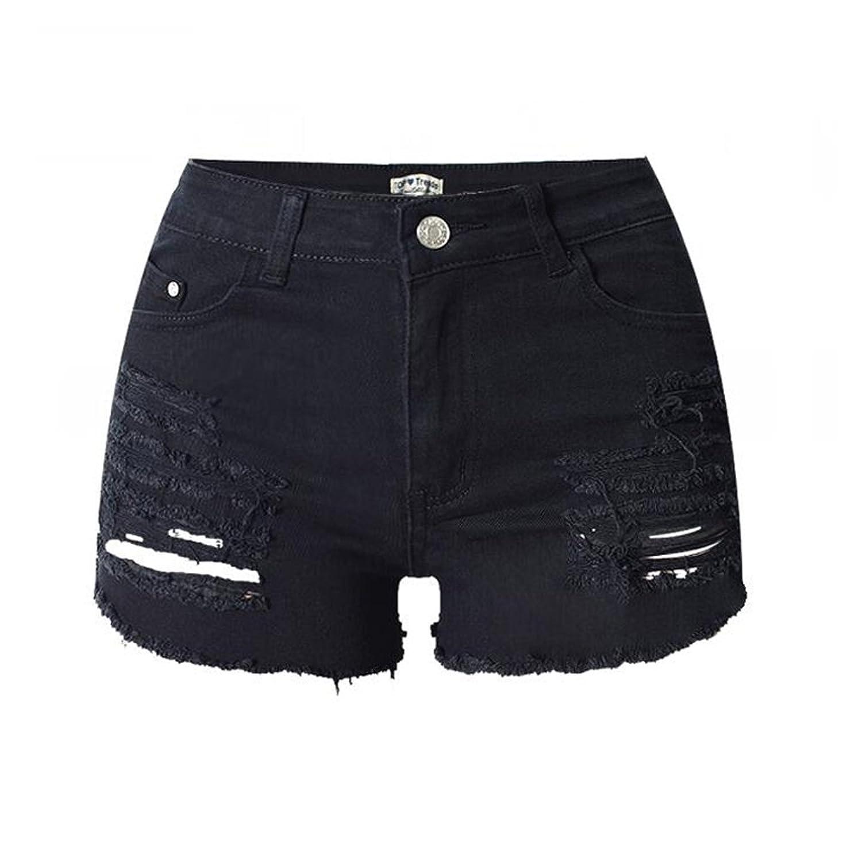 Winwinus Mens Half Pants Straight Plus-Size High Waist Plain-Front Pant