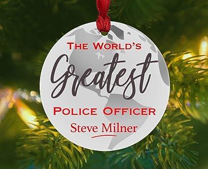 Police Christmas Ornaments.Amazon Com Oswaldo Police Christmas Ornament Personalized
