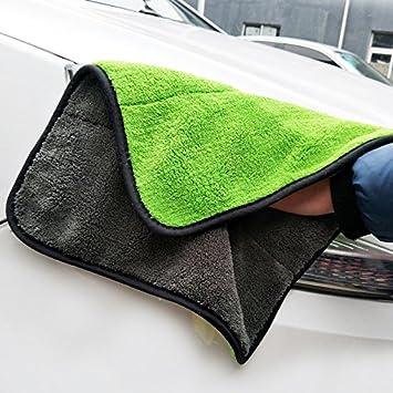 Auto Detailing Toallas ultra-thick suave peluche toalla de microfibra Super absorbente secado Car Detailing toalla 40 x 45 mm, 840 g/m²: Amazon.es: Coche y ...