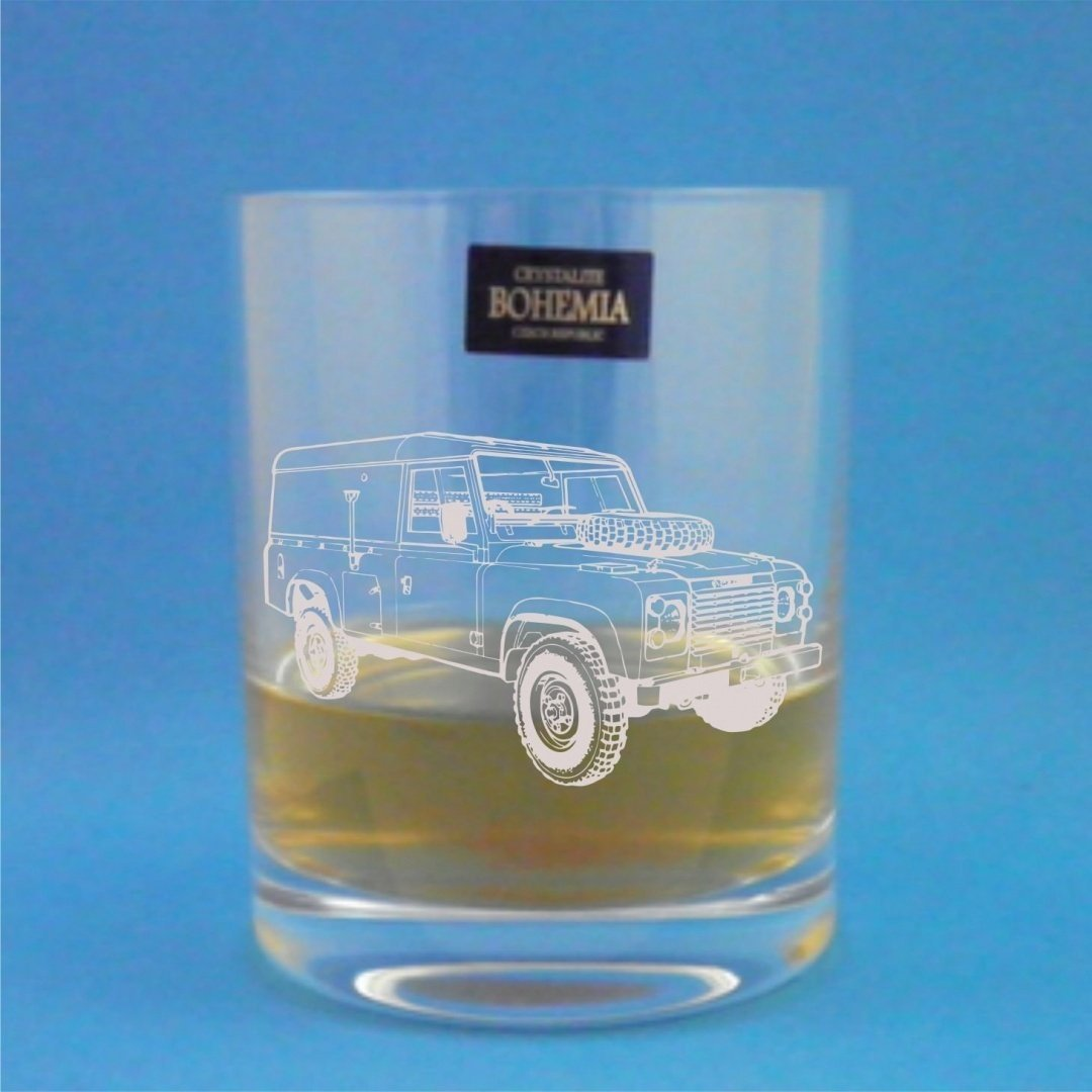Bohemia Crystal Whisky Tumbler With Series 3 Land Rover Design Presented In Gift Box