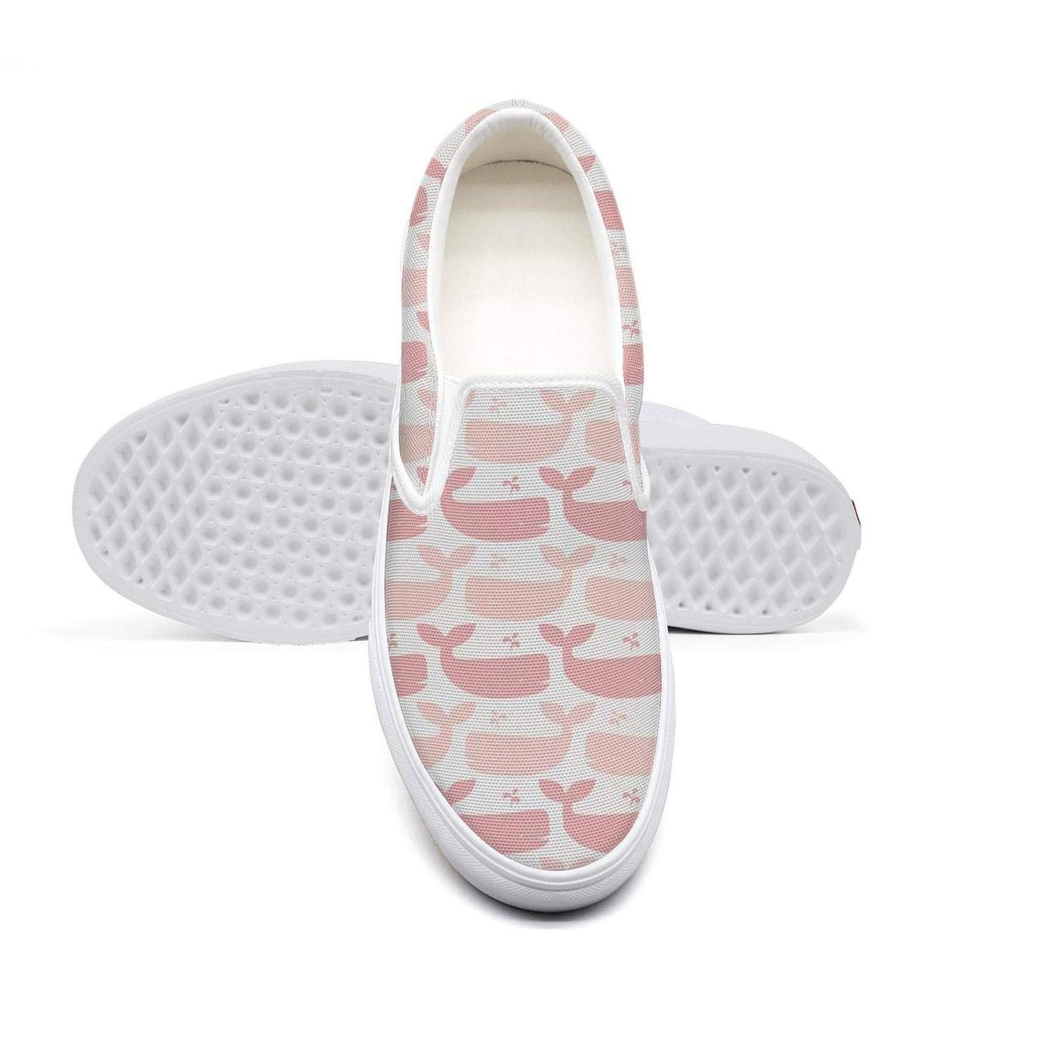 Kawaii Pink Baby Whales College Student Flat Bottom Stylish Sneakers Training Shoes