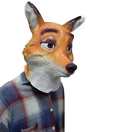 Fox Látex Animal Head Mask Mr. Wilde Fox Cartoon Movie ...