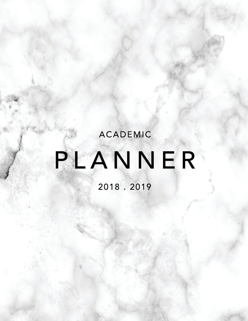 Academic Planner 2018-19: Marble + Gold Weekly View Student Planner | To Do Lists Goal-Setting Class Schedules + More (August 2018 - July 2019) (2018-2019 Student Planners Band 7)