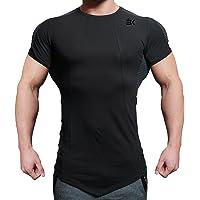 EK BROKIG Men's Gym Muscle Compression Shirts Training Workout Tops