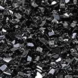 1/2'' Onyx Black Metallic / Black Reflective Fireglass 10 Pound Bag