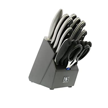 J.A. HENCKELS INTERNATIONAL 16028-000 Forged Synergy East Meets West Knife Block Set, 16 Piece, Black