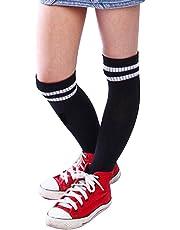 DEELIN NiñOs Deporte FúTbol Soccer Calcetines Largos Sobre Rodilla Alto CalcetíN BéIsbol Hockey Calcetines Largos Del