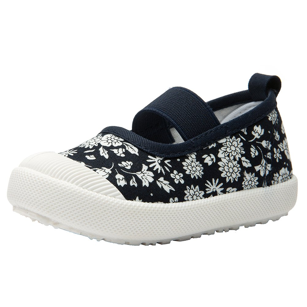 RVROVIC Baby Boys Girls Shoes Slip-on Casual Canvas Sneaker Flats for Toddler/Little Kid