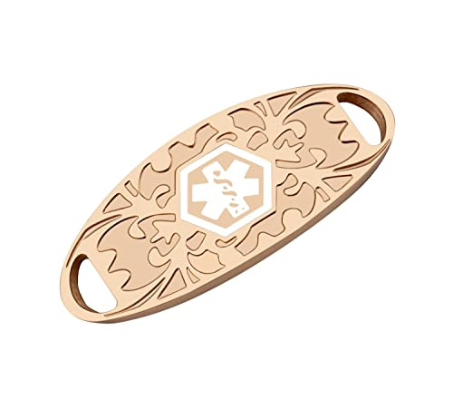 c4ab4b97b Bracelet ID Tags - Rose Gold Medical Alert ID Identification Tags for  Custom Engraved Bracelets: Amazon.ca: Jewelry